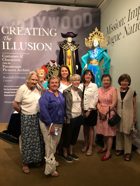 "A group of RHM volunteers traveled together to the Decorative Arts Center of Ohio in Lancaster on June 19 and in return, those at the DACO visited our museum on July 9 to both learn about each other's passions and to foster mutual relations.  Each year the RHM board sponsors a trip for volunteers, including lunch, said Ann Lowder, director. In the recent past, volunteers have toured Zoar village, Dawes Arboretum and enjoyed tea at the Kelton House in Columbus.  ""It's a great way to show our appreciation for all that they give and to inspire them with the importance of a well-versed docent,"" she added.  Shown here from left, Dorothy Garrett, Sharon Bafford, Suzanne Kennedy, Teri Niedermeyer, Rebecca Dungan, Tracey Fleitz, Director Ann Lowder, and Cheryl Moore."