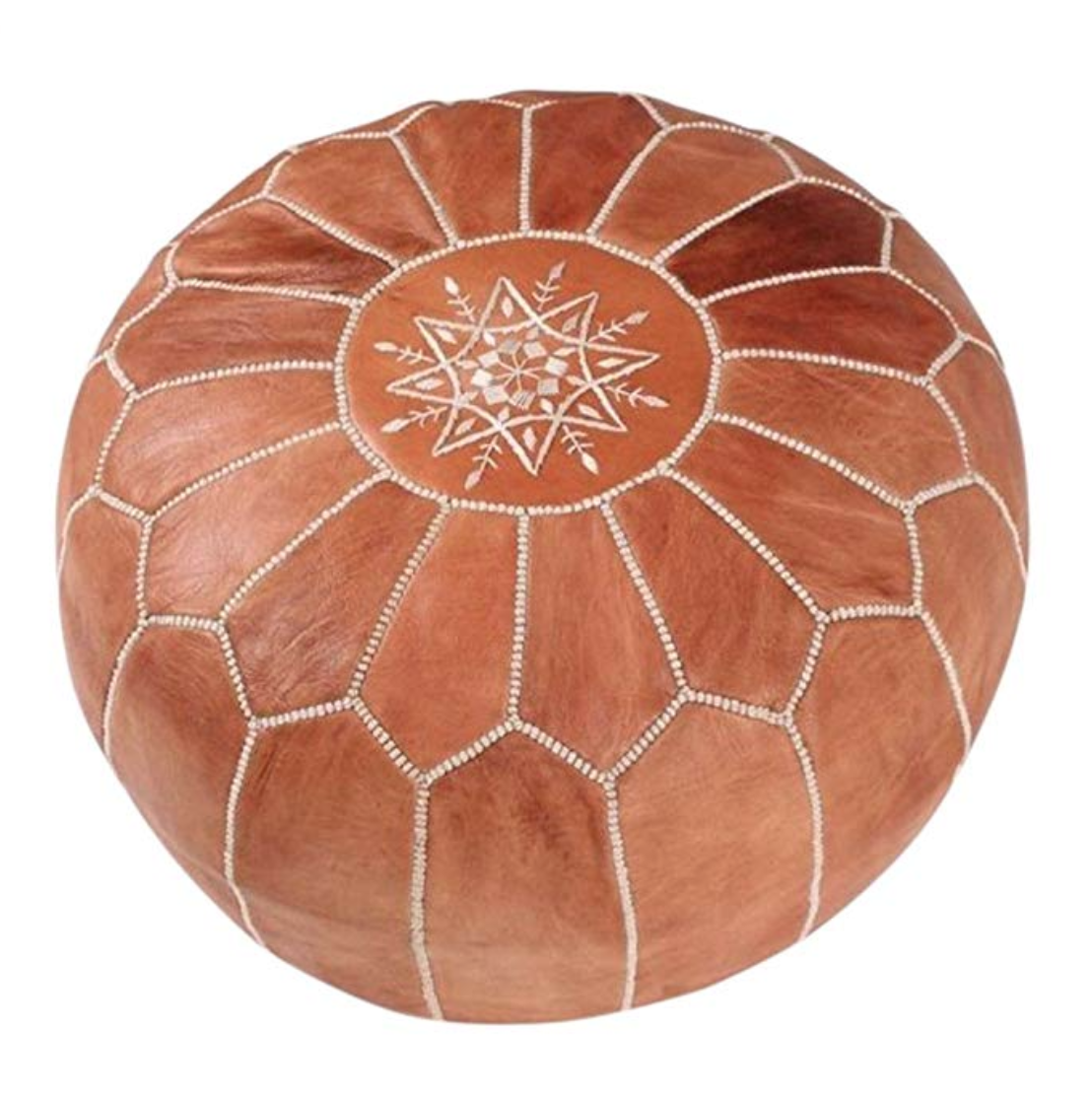 Moroccan House Leather Pouf