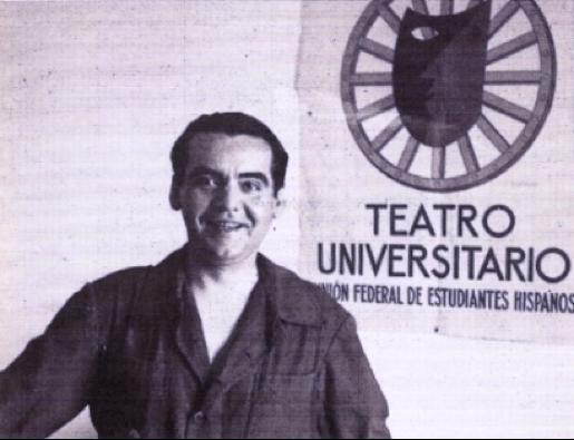 """(Lorca, in his uniform as director of """"La Barraca"""", 1931)"""