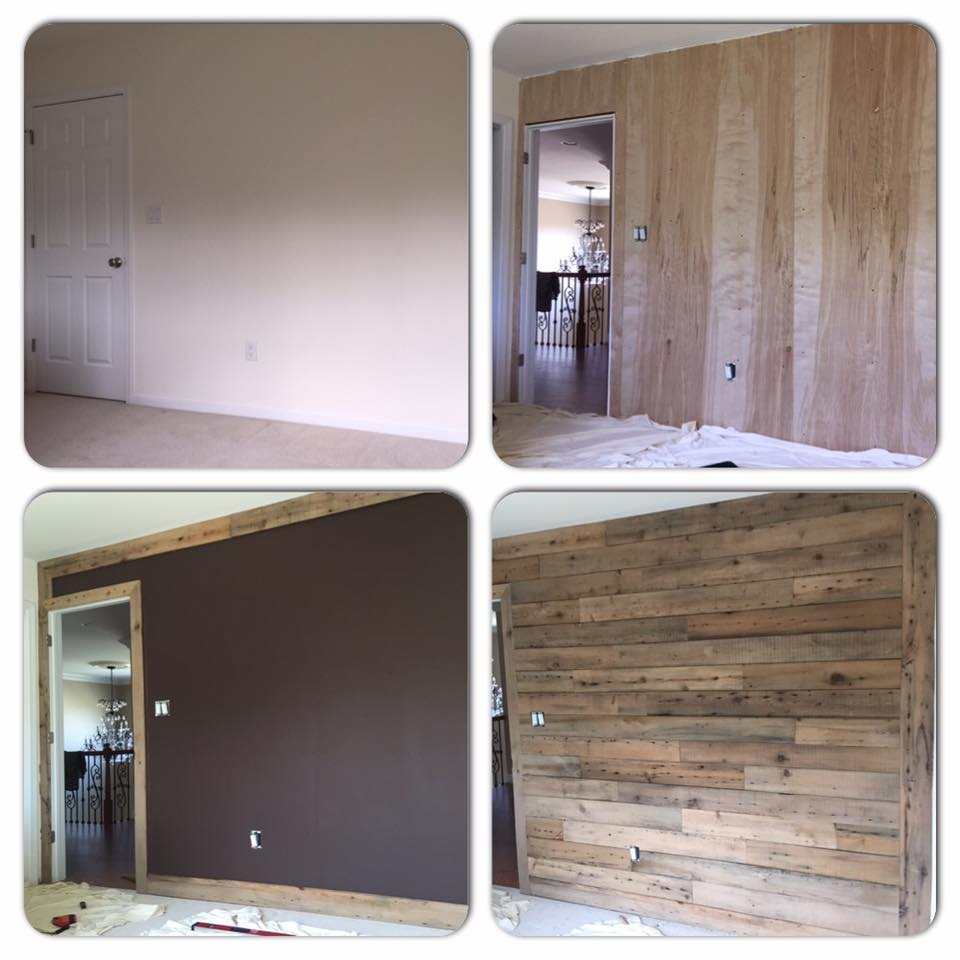 Reclaimed Wood Accent Wall in 3 Easy Steps