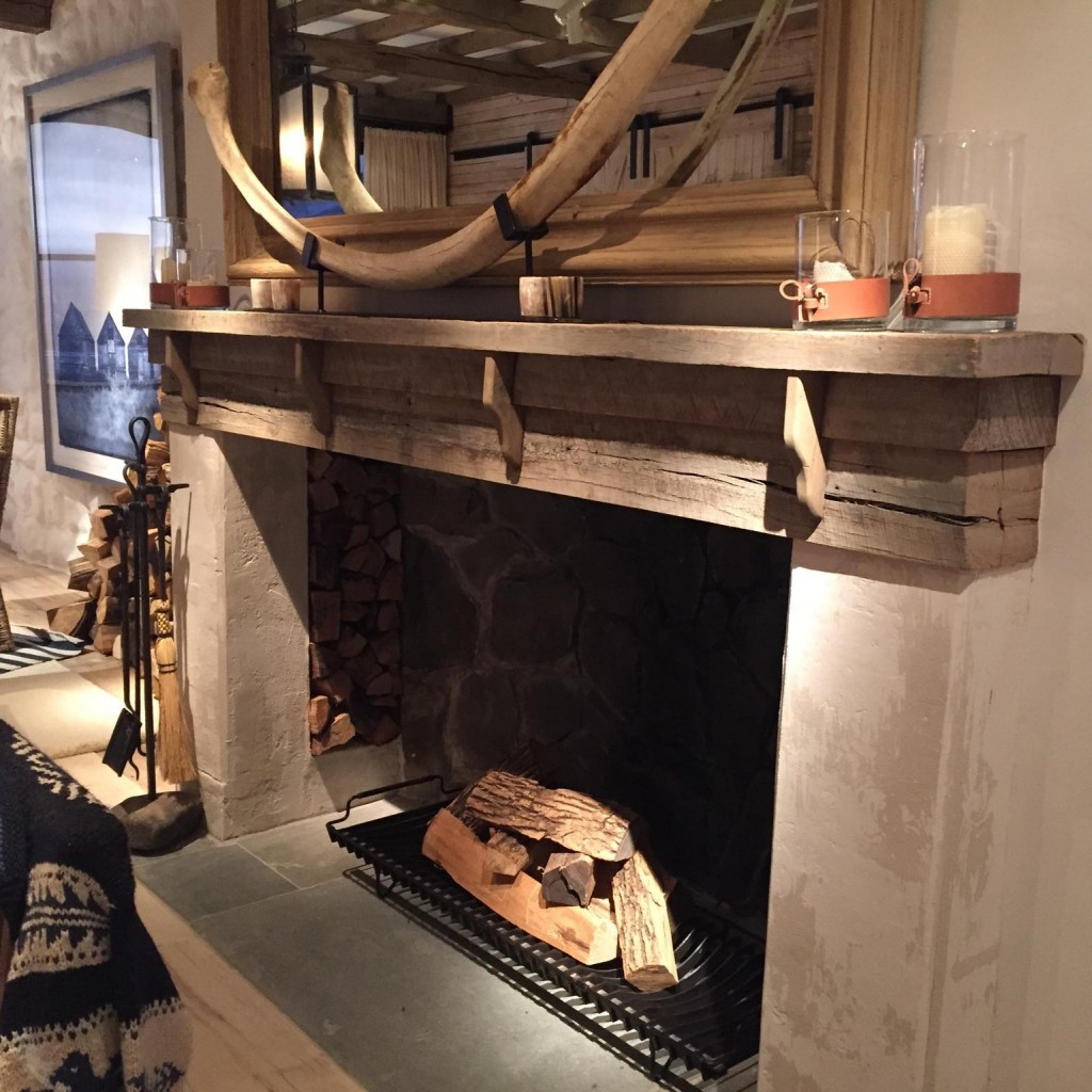 Barn Wood Fireplace Mantel