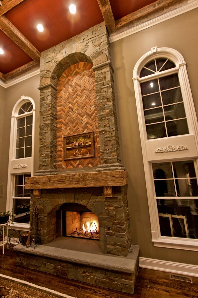 Antique Wood Fireplace Mantel