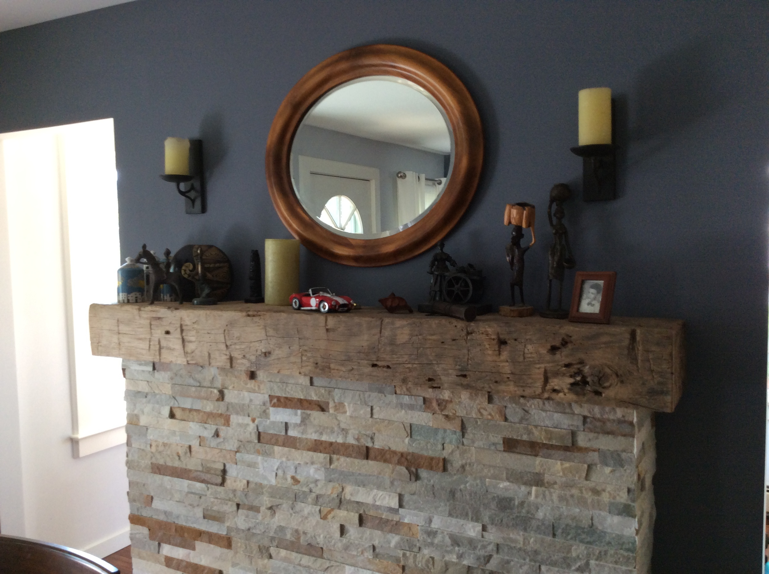 hand hewn white oak fireplace mantel.JPG