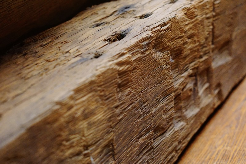 Hand hewn barn beams were made with an adze and broad axe. The character has that beautiful, undeniably farmhouse feel.