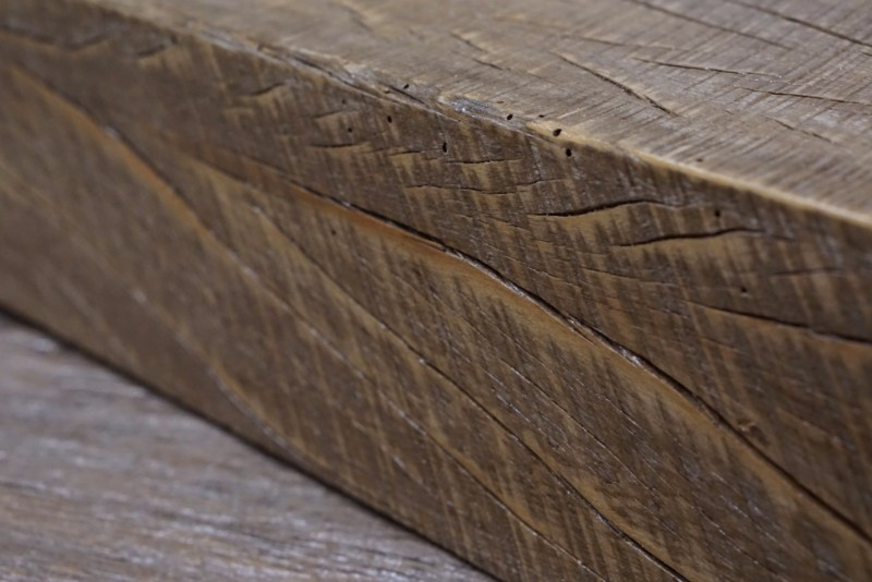 Rough sawn beams were cut with steam powered saws and provide a slightly cleaner, yet still authentically rustic appearance.
