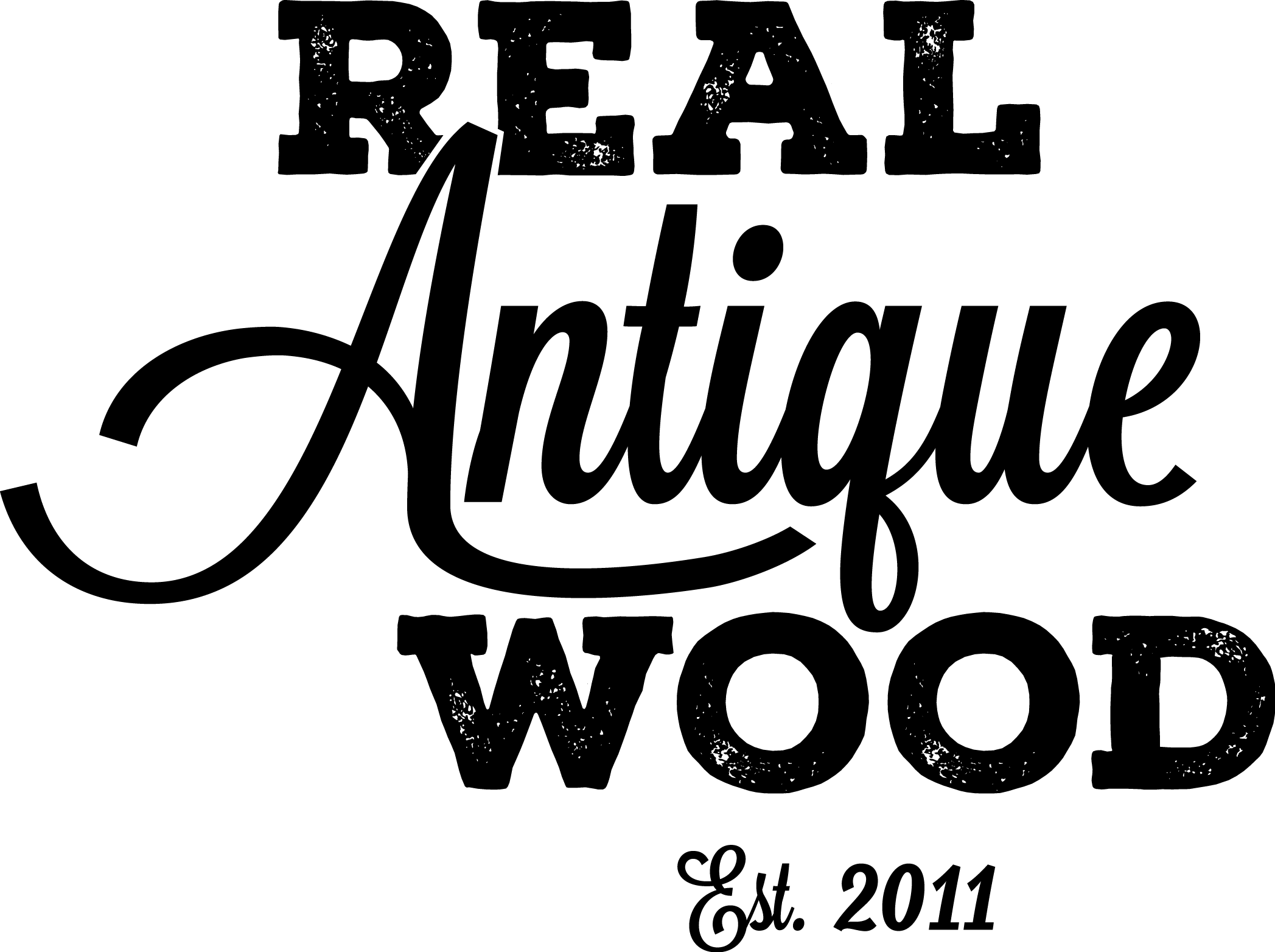 Real Antique Wood Logo - PNG