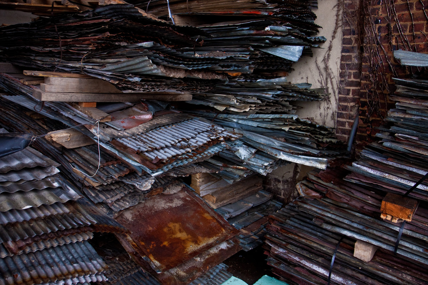 Reclaimed Corrugated Tin — Real Antique Wood