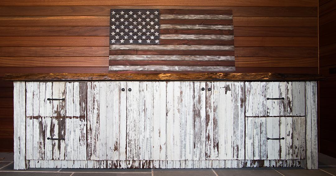 White Barn Siding Cabinet