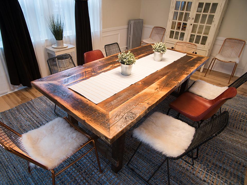 Reclaimed Farm Joist Table