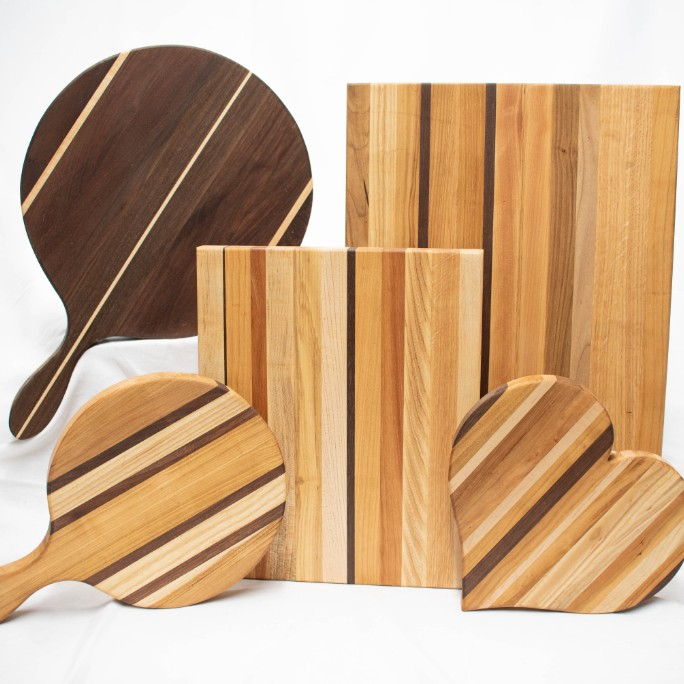 Dec 14 - Put your holiday shopping list on the chopping block with these great boards. Available in multiple sizes, and even in a heart shape - something we can all love!
