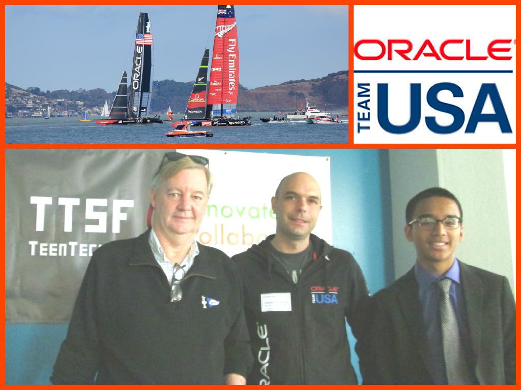 Oracle Team USA Design Lead: Joseph Ozanne, America's Cup Exec Director: Tom Ehman, Keynote Speakers