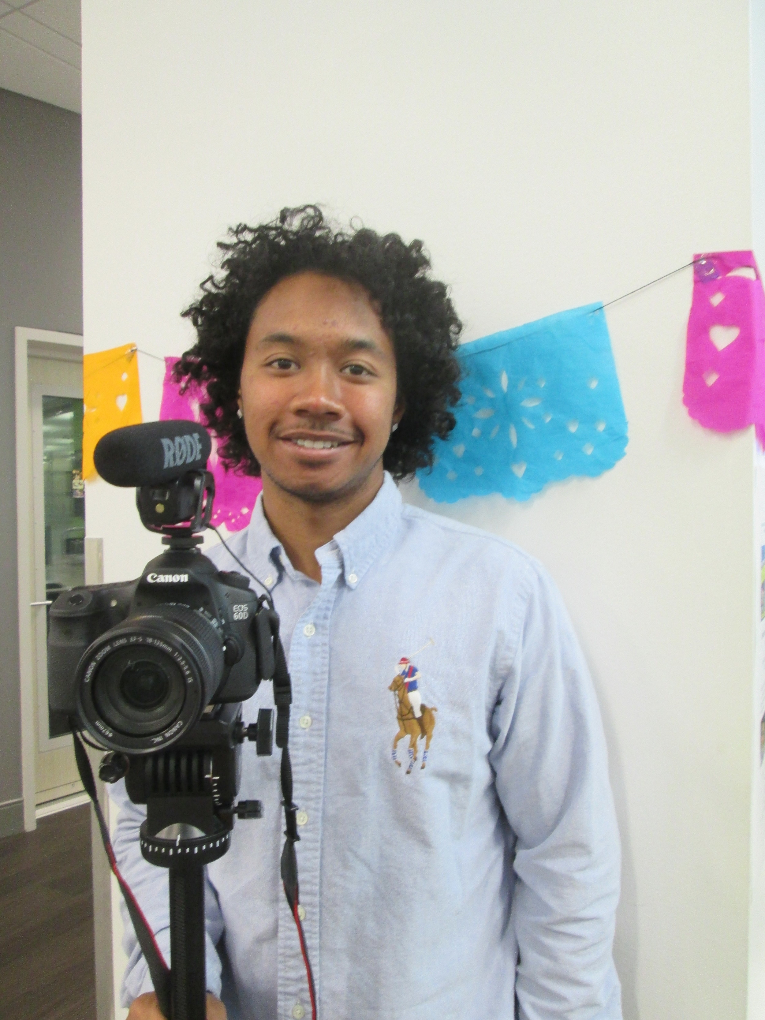 SFPL BAY leader and videographer, Jayraj Govender