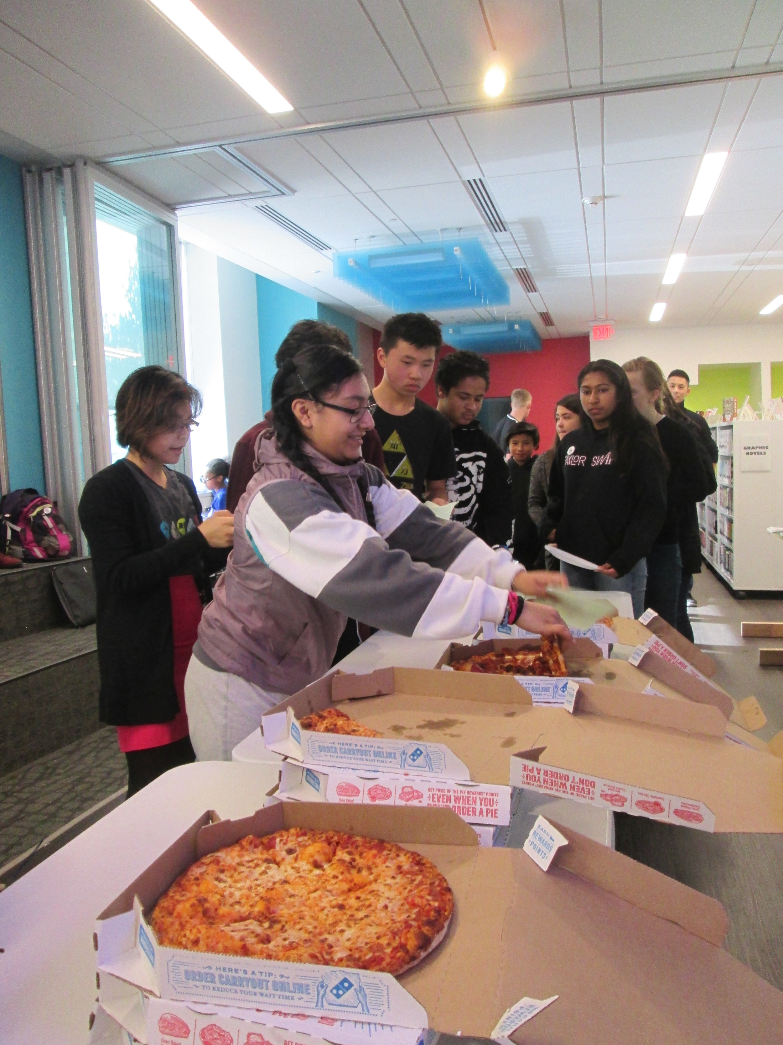 Hungry hackers @TheMixatSFPL: Pizza is going...