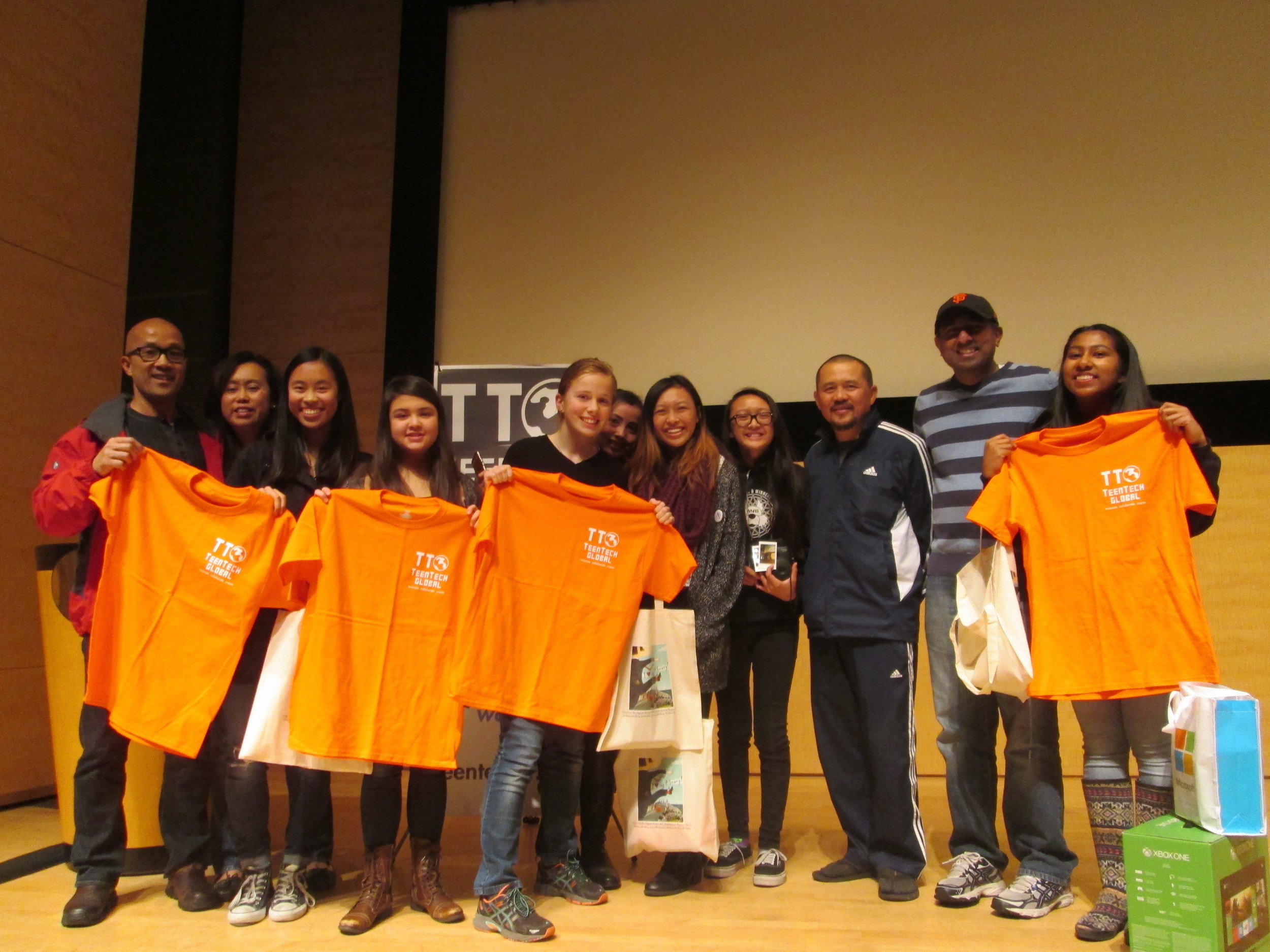 Winning Project EduVoice by The Dream Team: Proud parents and TTSF t-shirts