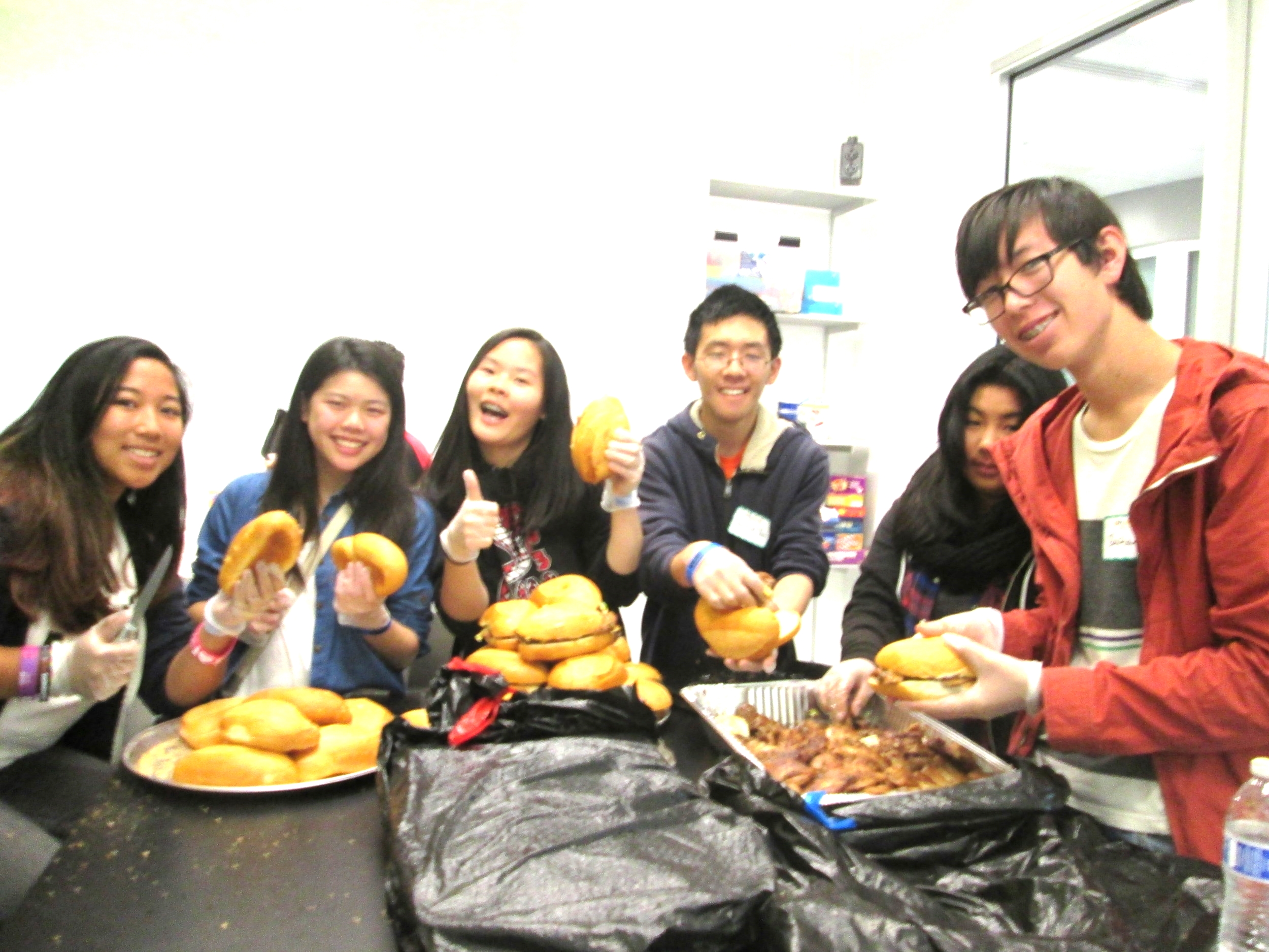 SFPL BAY Leaders fueling innovation by helping make lunch for hungry hackers