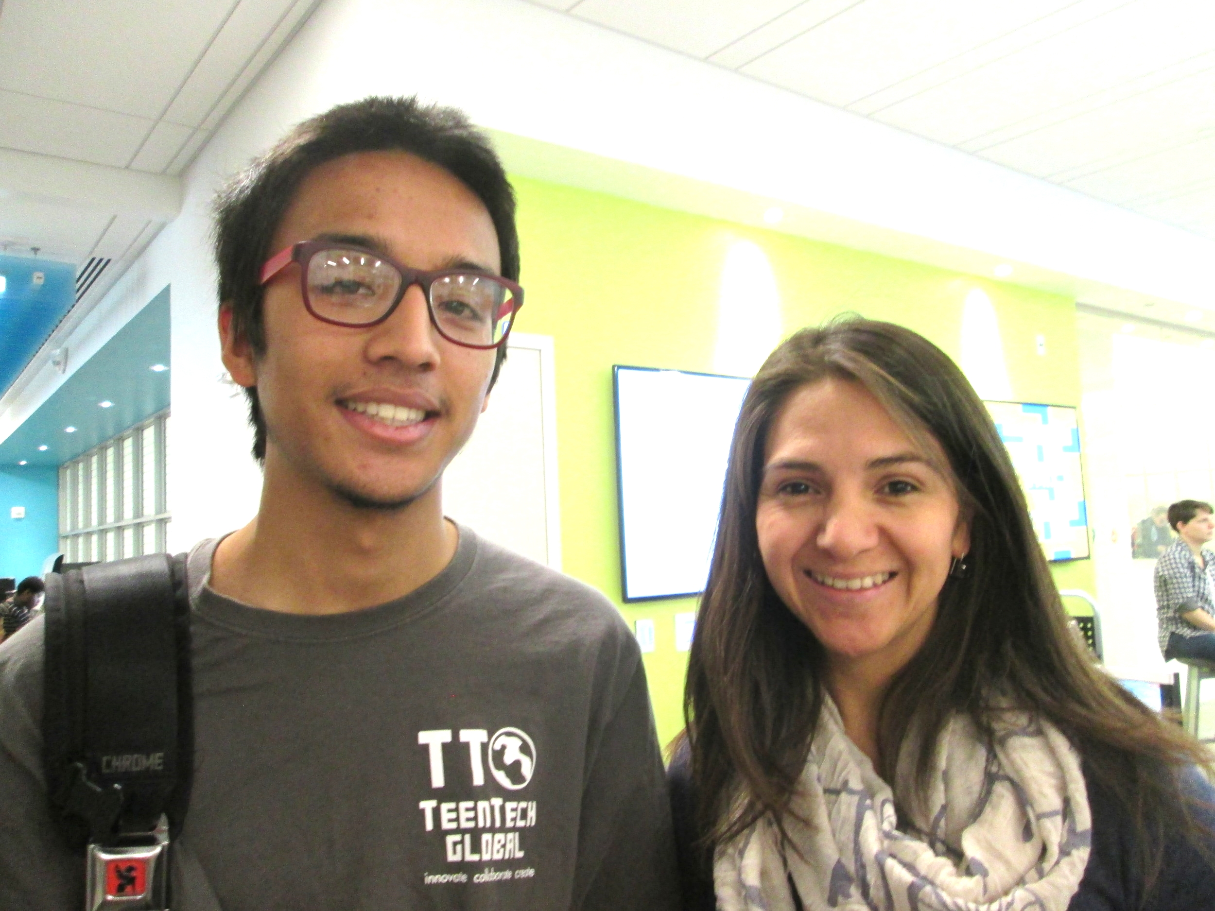 TeenTechSF Founder & Global Chair, Marc Robert Wong, with UC Berkeley film-maker making a documentary about hackathons