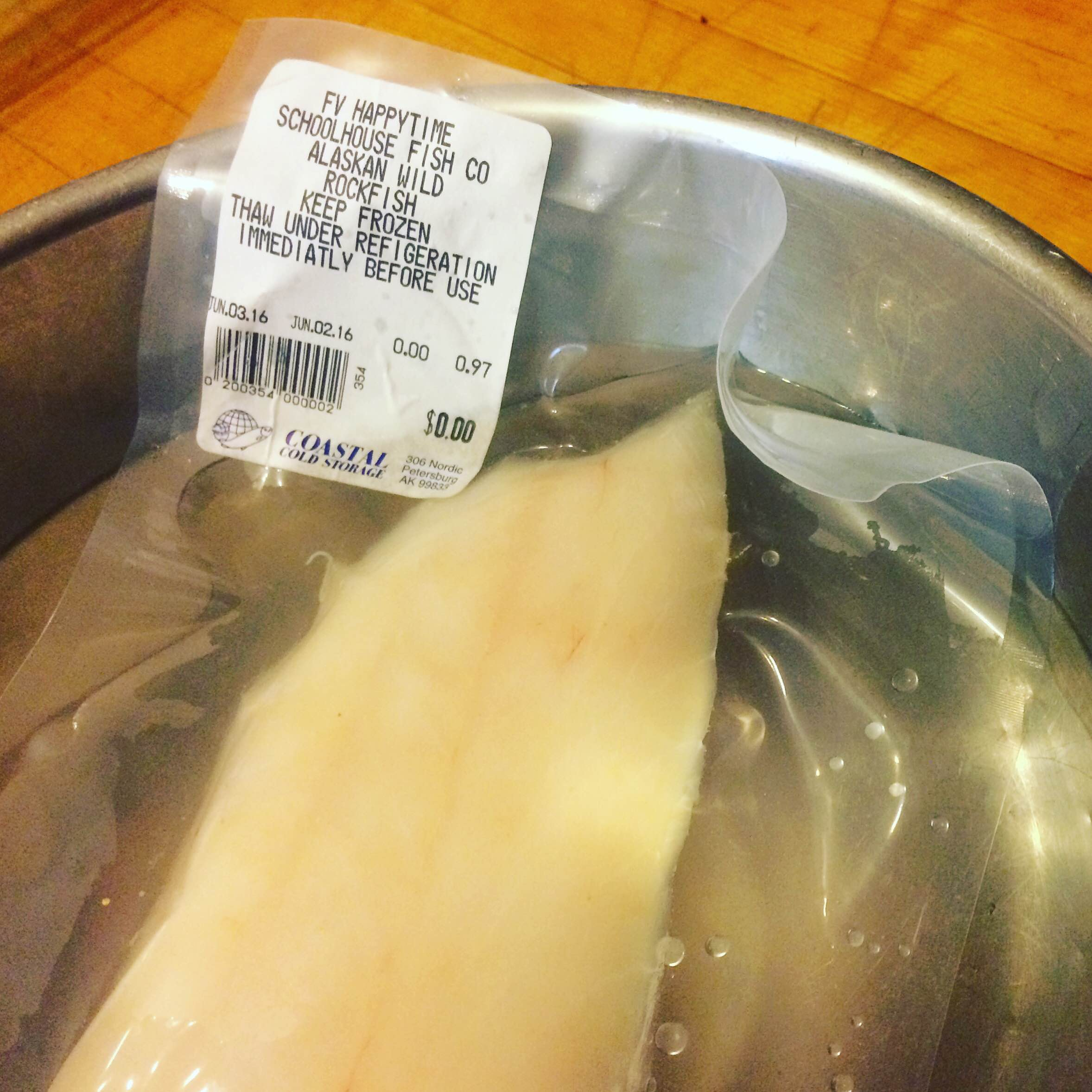 Thaw fish in the fridge the day before, or in a bowl with water before you start.