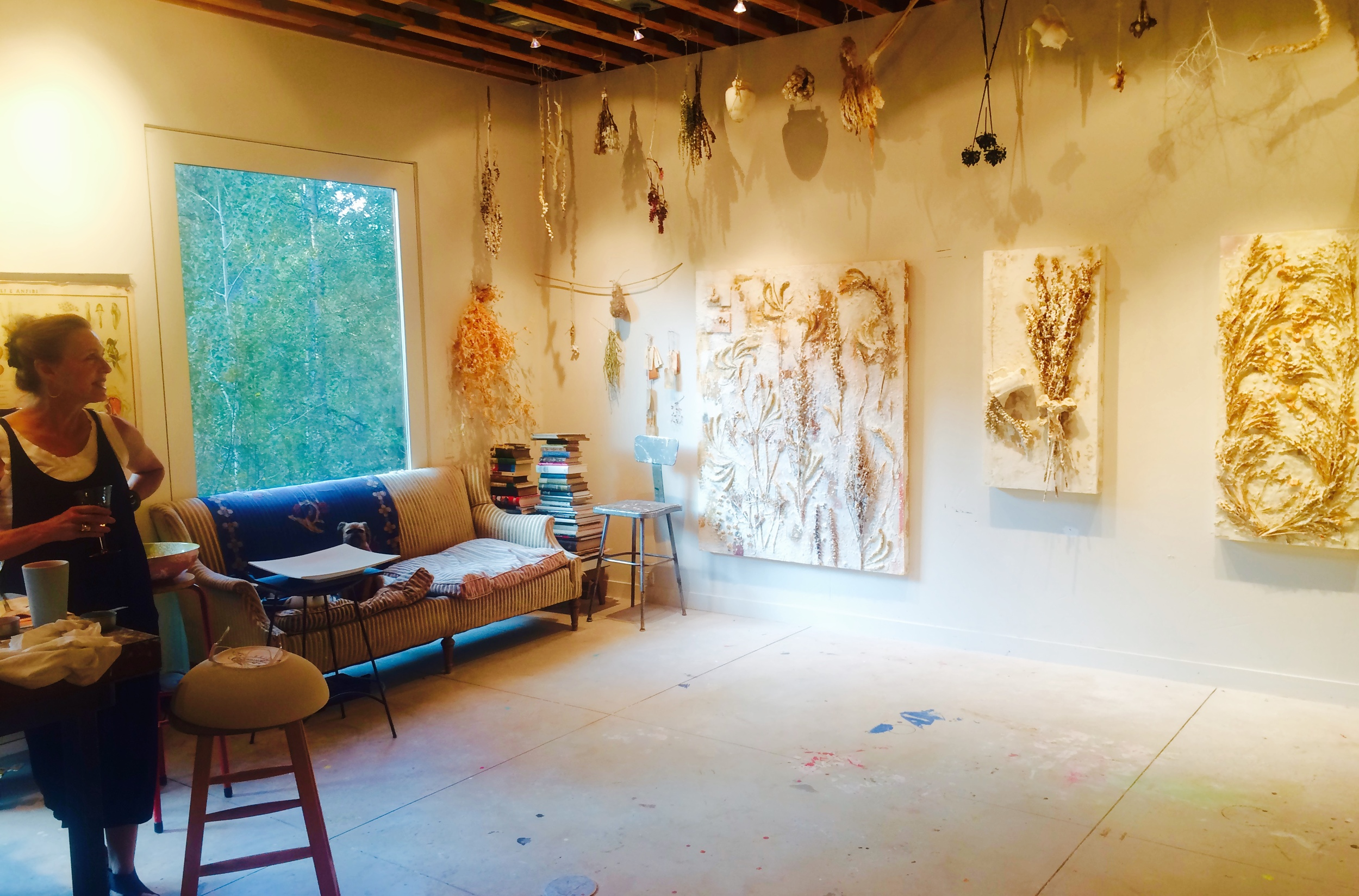 The artist in her Aspen studio