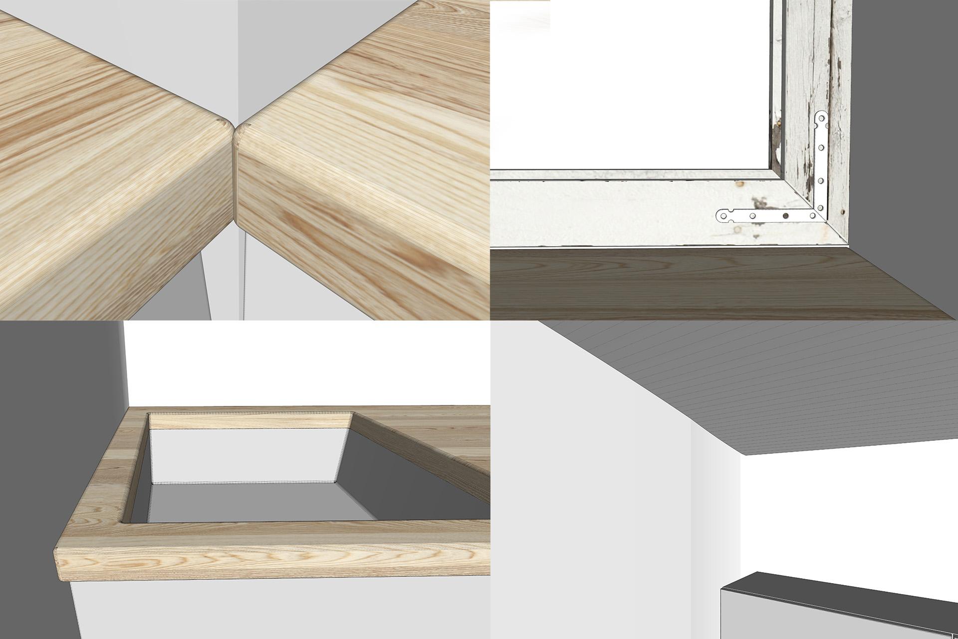 Modelling interior visualisation details in sketchup