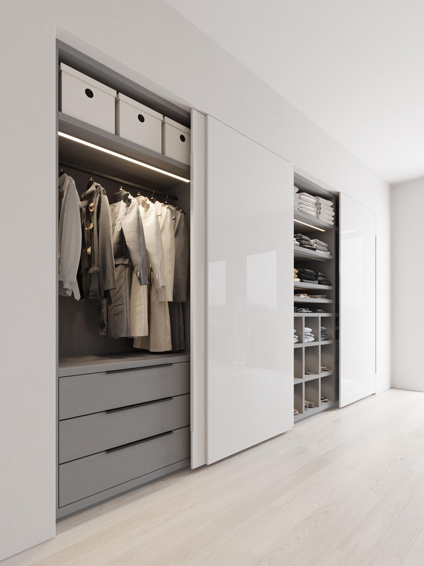 Wardrobe product 3D visualisation