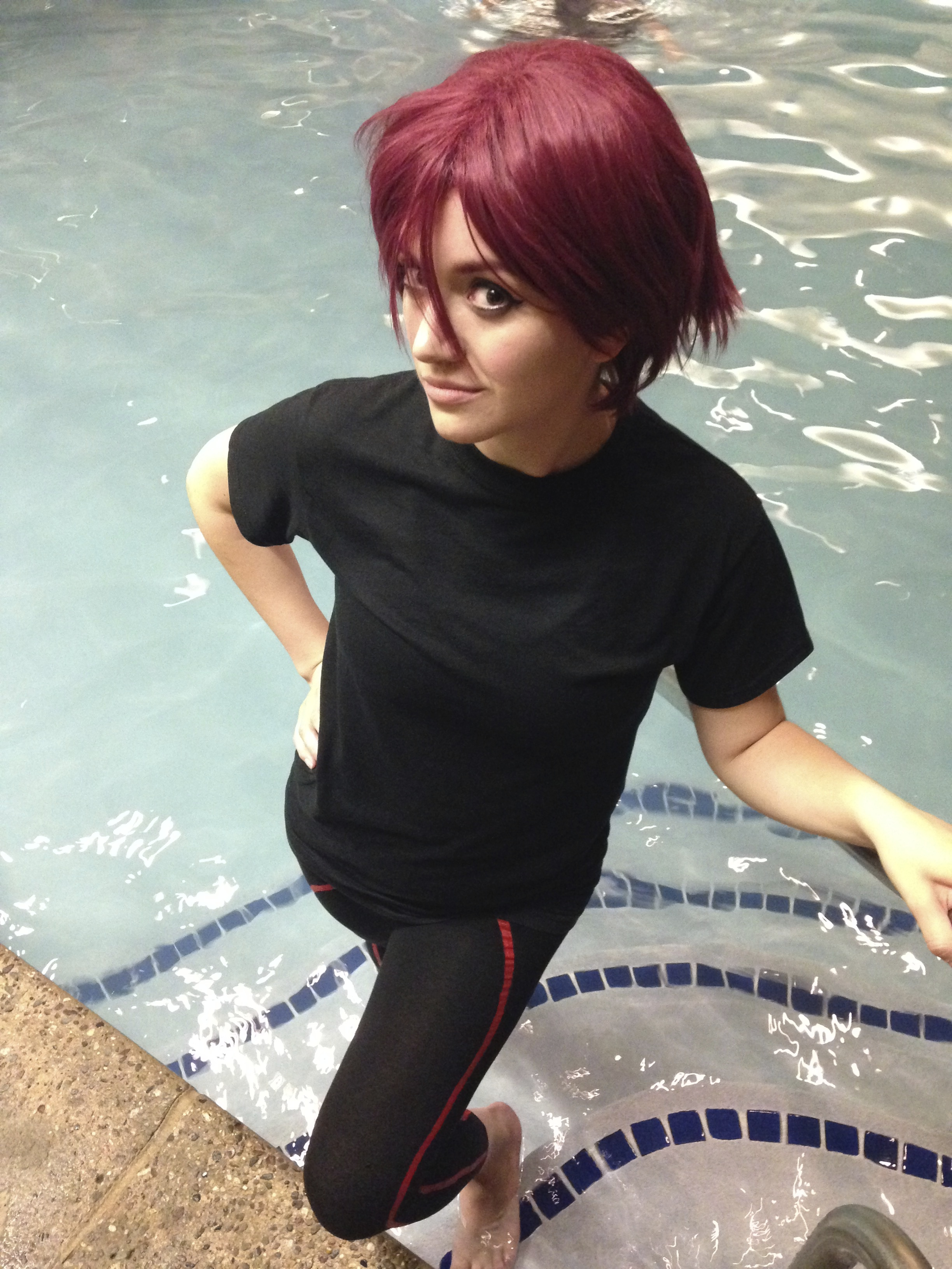 """""""Since the anime revolves around swimming, we decided it would make sense to take photos by the pool to follow the theme,"""" Liz says about cosplaying Rin Matsuoka from the animated series Free! at AnimeNEXT in June (shot by Peter Vazquez)."""
