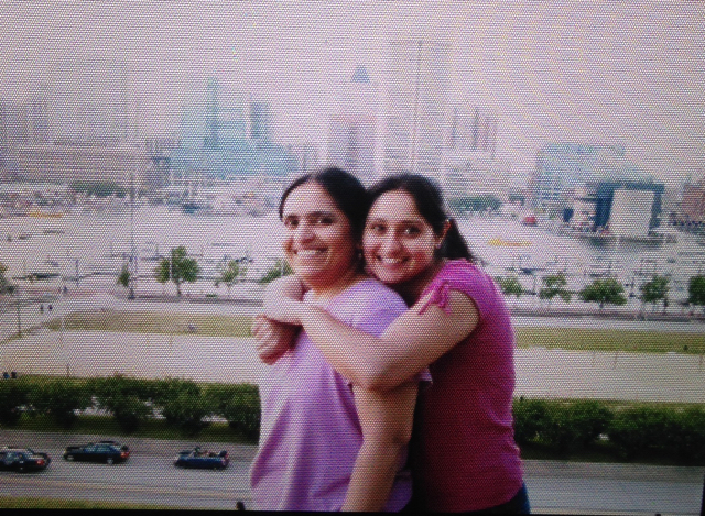 Kirti Patel (right), with her mom, Alka