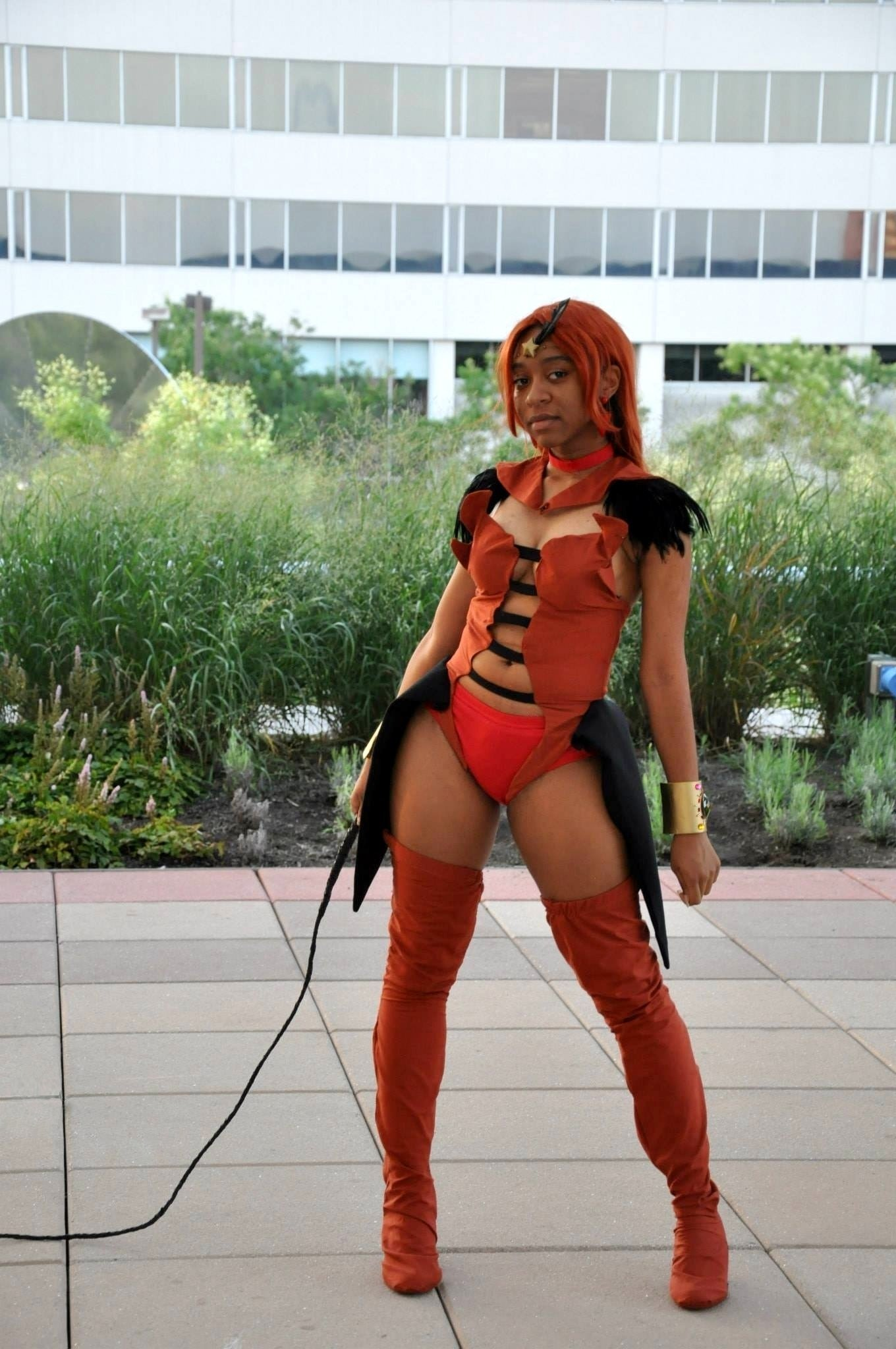 Raven at the Otakon convention this year as Sailor Lead Crow, a villain from Sailor Moon Stars.