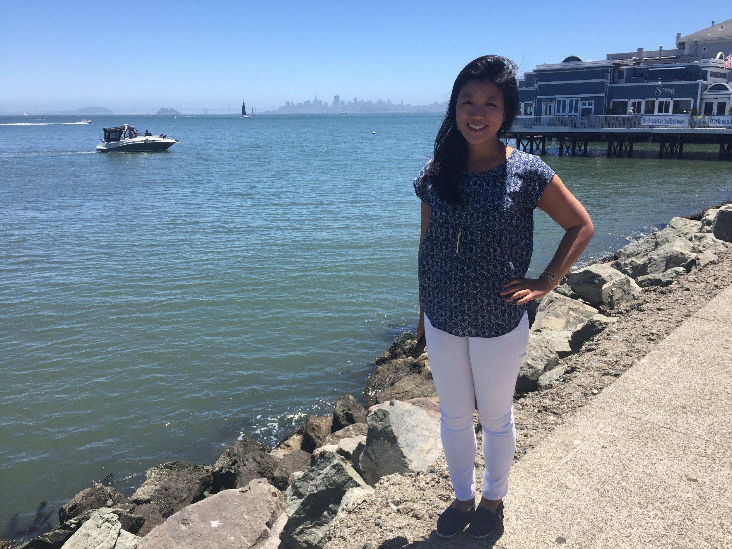 Mary in Sausalito, California, during her monthlong break between jobs in June 2016.