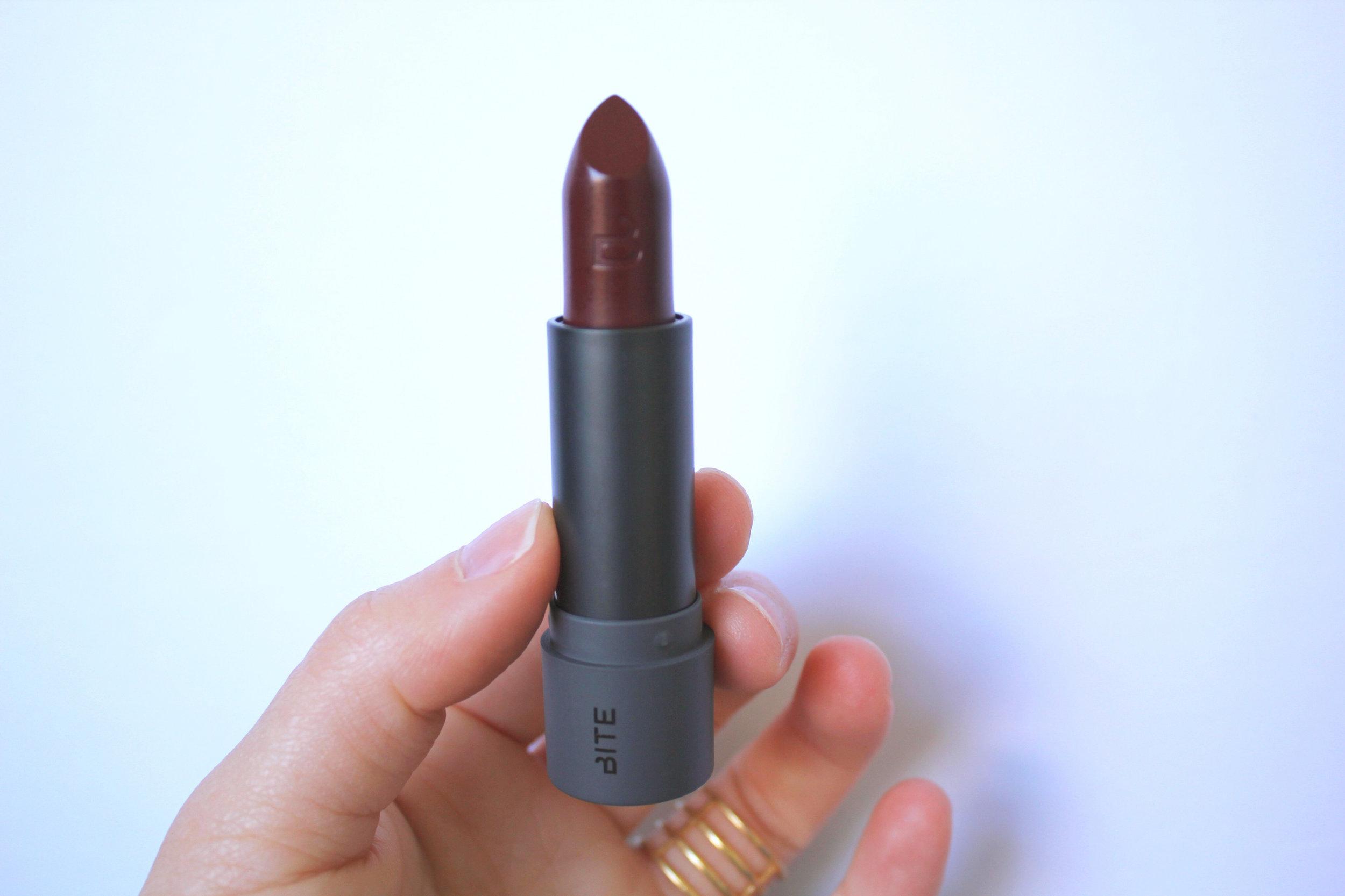 Bite Beauty Amuse Bouche lipstick in Liquorice (see number 10).