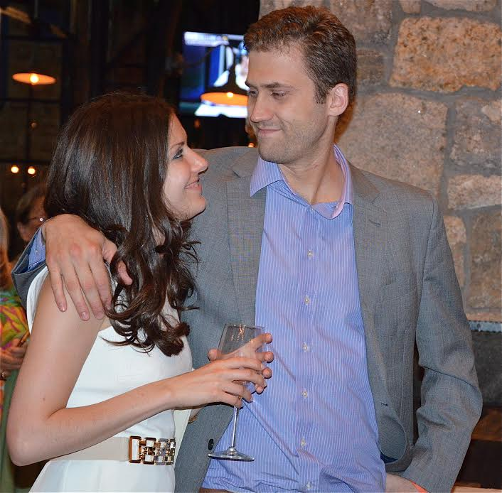 Amanda Bassen with now-husband Bart Clareman at their rehearsal dinner last year.