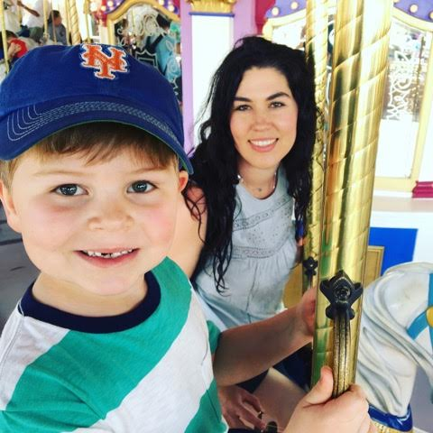Jen Gerena with her 6-year-old son, Owen, in Disney World last year.