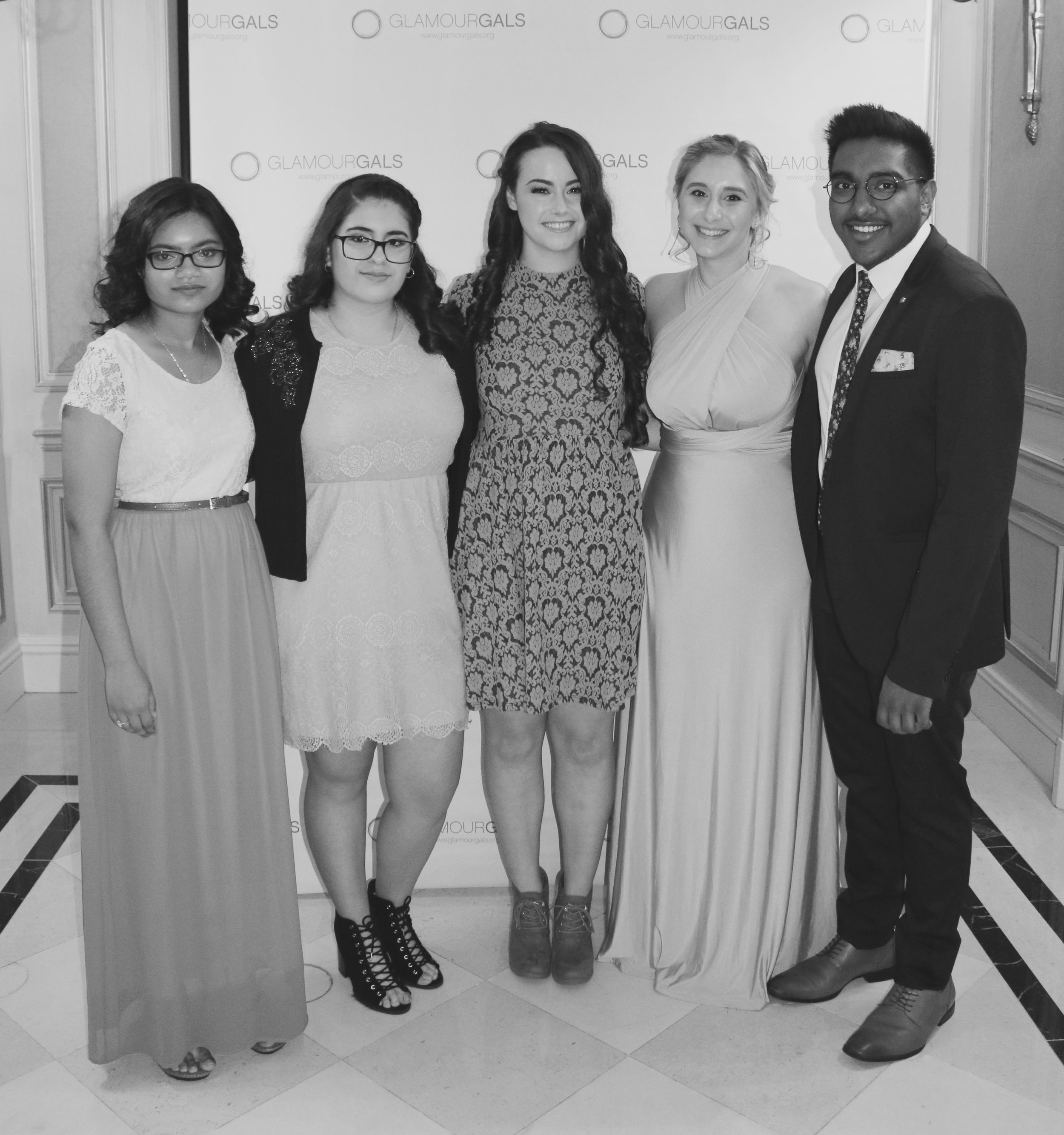 This year's Glammy Award Winners, from left: Sara Ullah, Elizabeth Quinto, Jacqueline Kerlin, Leyla Mulavdic and Nicholas Sookhoo. (Not pictured: Bailey Watkins)