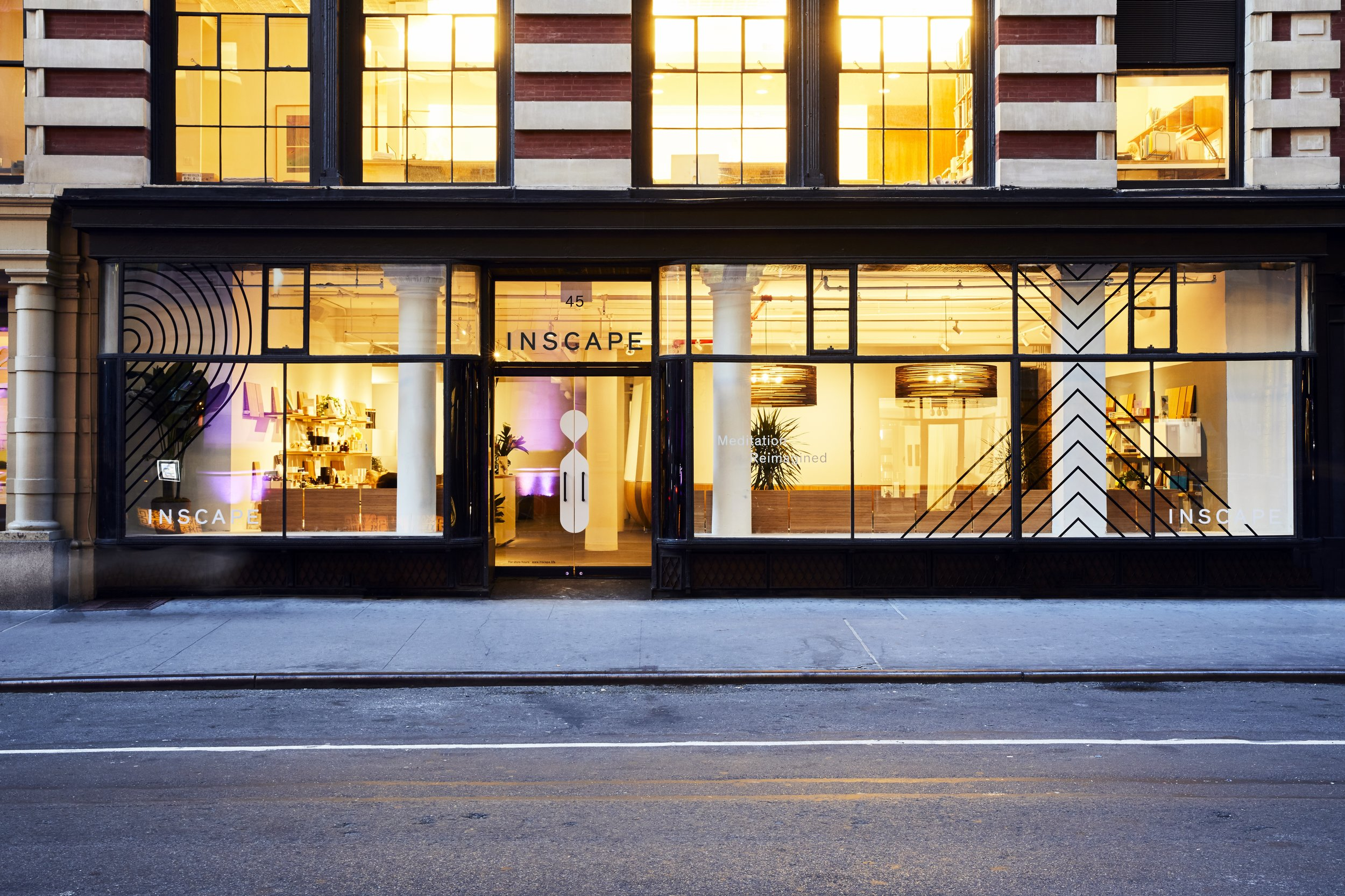 The Inscape storefront in the Flatiron district of New York City