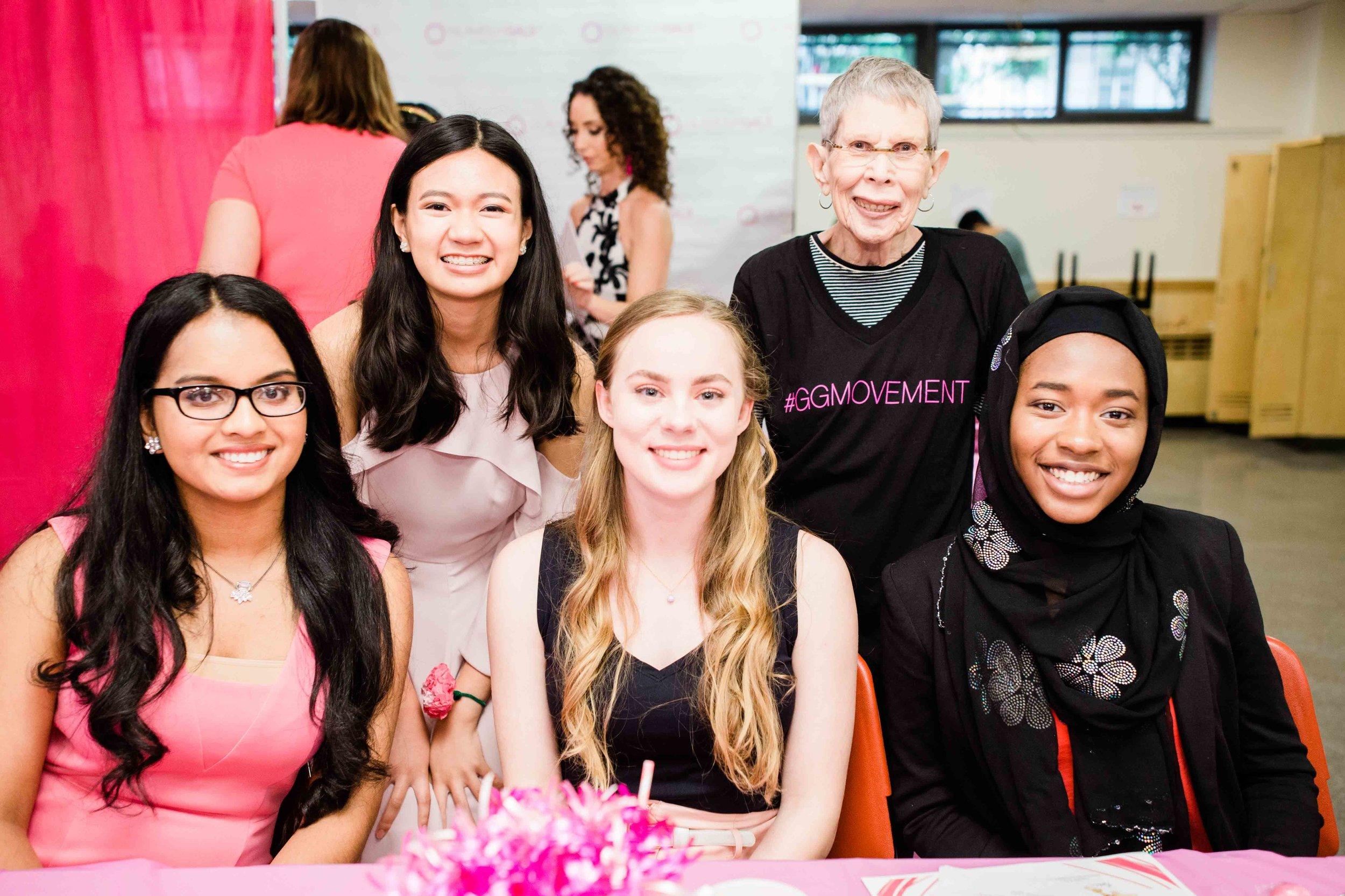 Clockwise from left: Alicia;Rheana;Rosalie, the Inspiration Glammy winner; Hafeezat; and Gretta.