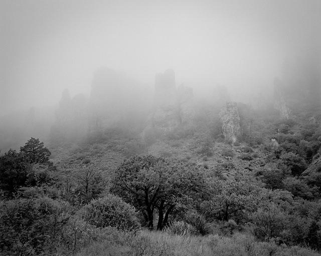 Clouds Passing over the Chisos Mountains Mamiya RZ67. Kodak Tri-x film.