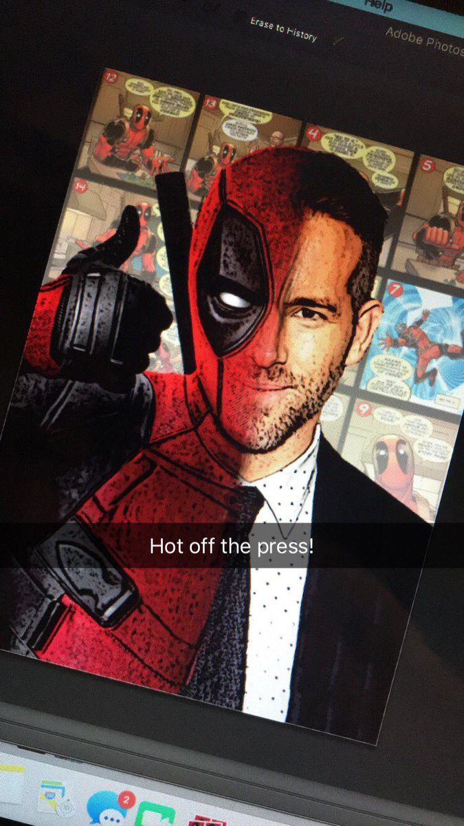 Treat yourself to this Deadpool artwork via Zeppo on Etsy.
