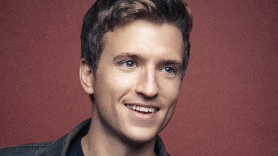 A young Greg James