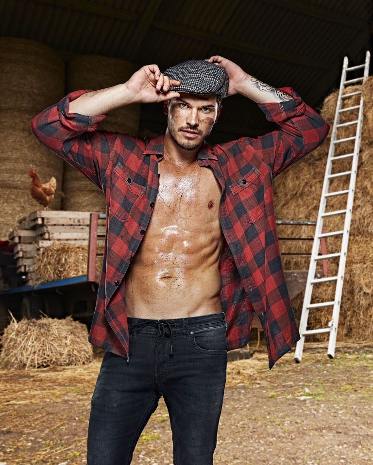 Gleb Savchenko celebs on the farm.jpg