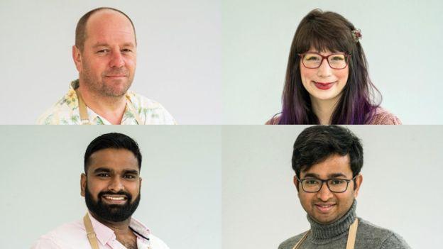 Clockwise from top left: Jon, Kim-Joy, Rahul and Antony