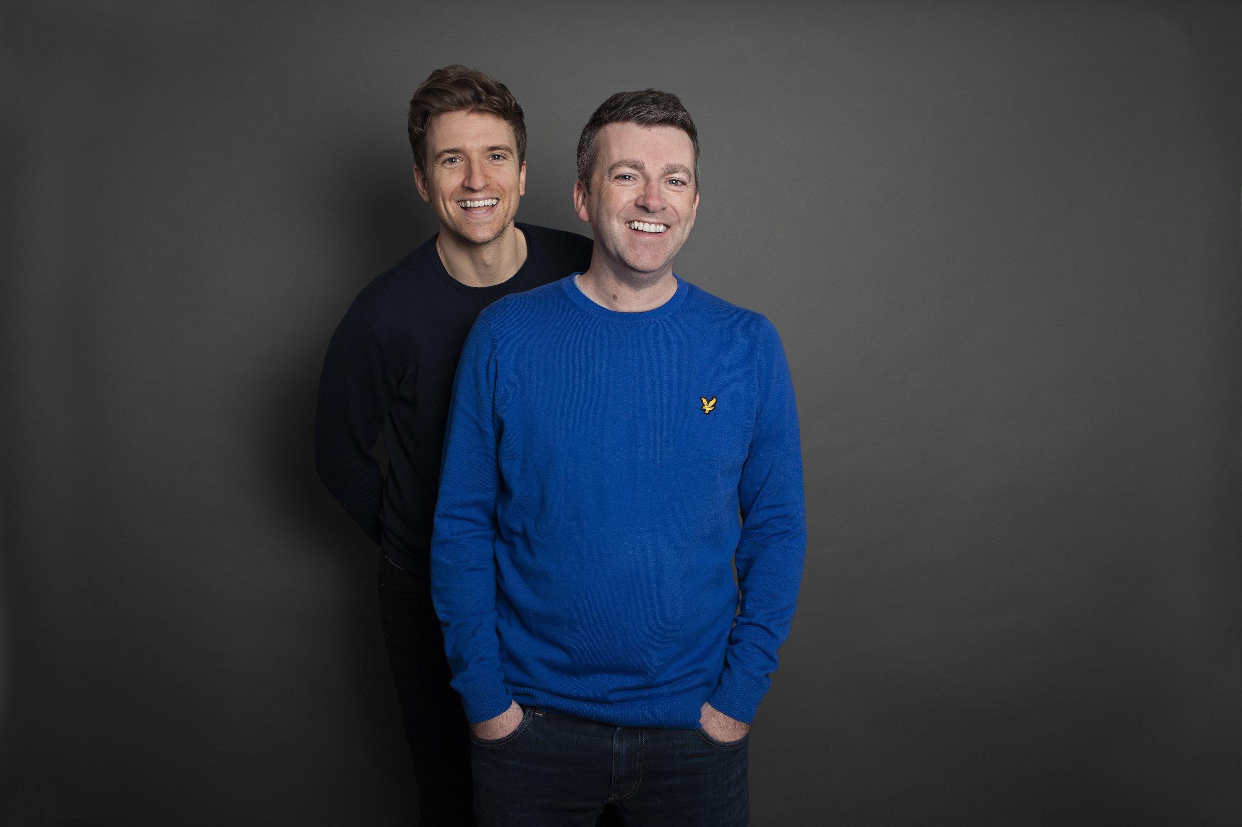 Greg James with his writing partner Chris Smith