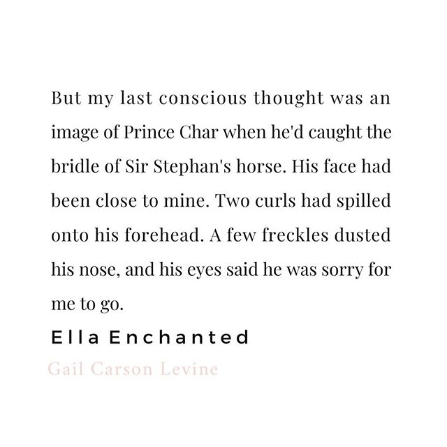What was your favorite book growing up? The one you reared until the spine fell apart? ✨Mine was definitely Ella Enchanted! I still have my original tattered copy!