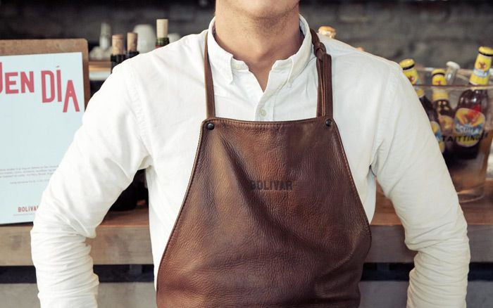 Aprons in a variety of materials
