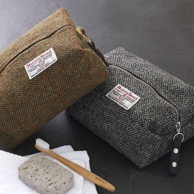 Toiletry bags or pouches available in various fabrics