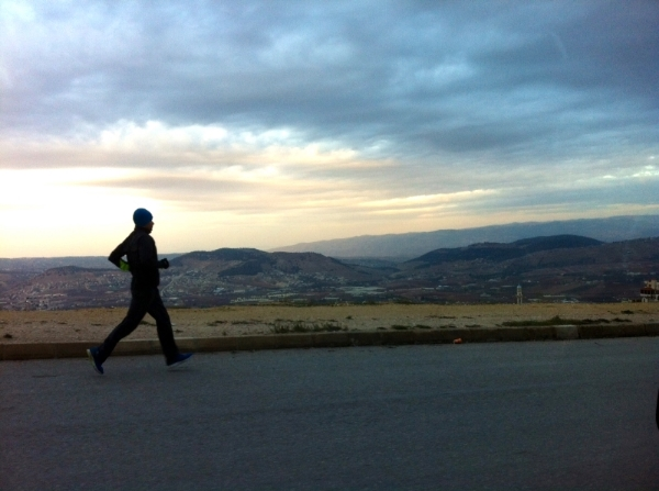 A long dawn run in the hills around my house in Jordan