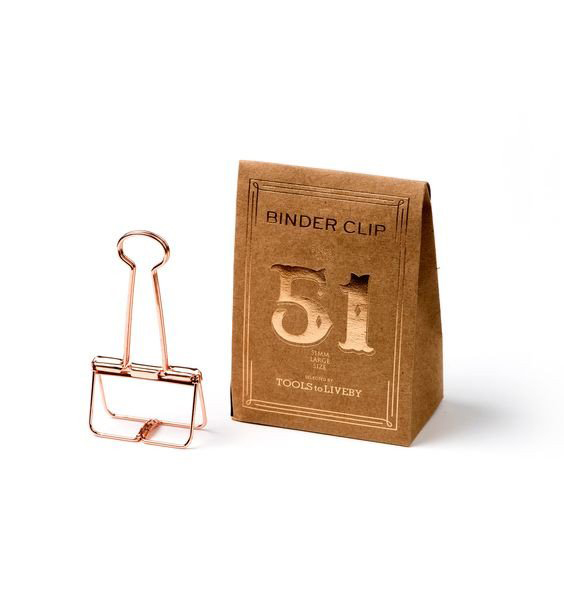 Rose Gold Binder Clips for Hanging Art Prints