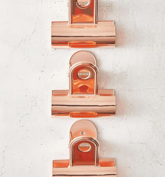 Giant Copper Bulldog Clips Rose Gold for Hanging Art Prints