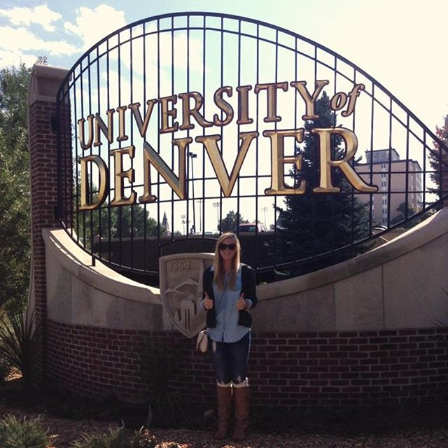 Anni at University of Denver 🎓 #TheCollegeDoctor