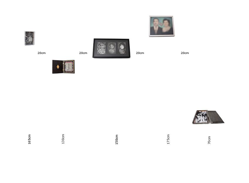 Coleção de Incertezas. Estudo para parede.