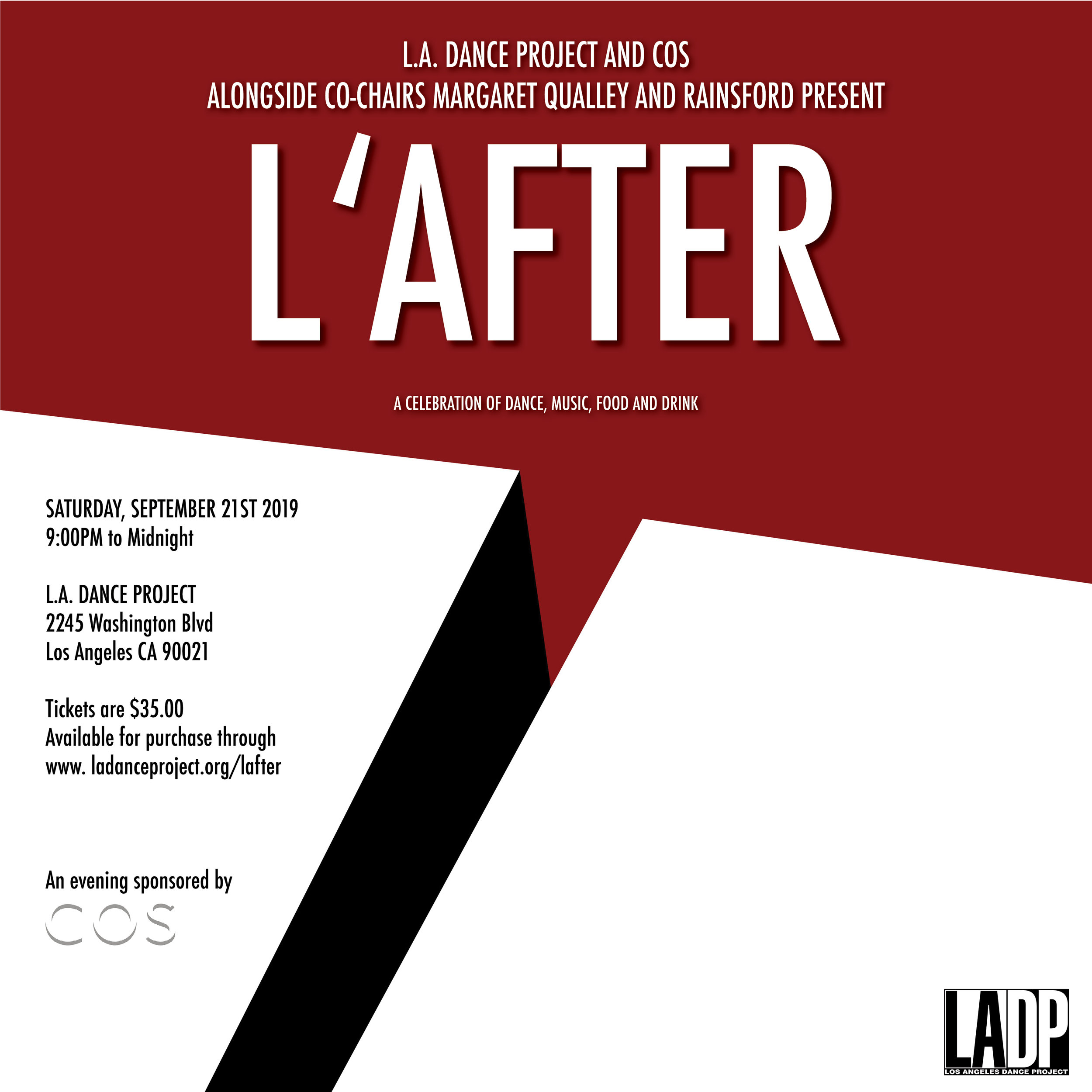 LADP thanks Tofer Chin for the invitation artwork.