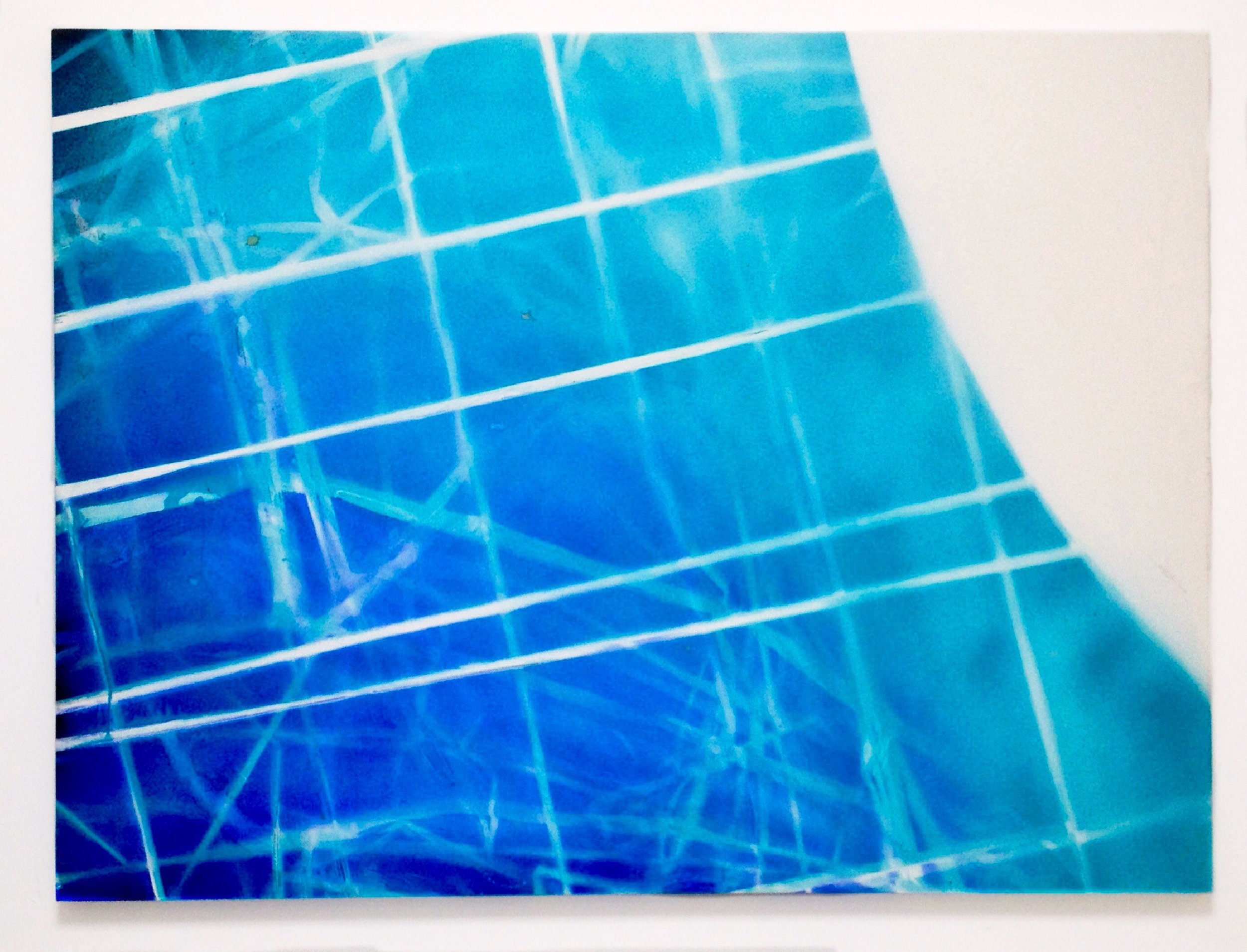 IAIN MUIRHEAD   1513  , 2015. Airborne pigment, acrylic binder, 10oz cotton duck canvas, white titanium gesso, milled pine, 3mm staples, 16 gauge pneumatic nails. 50 x 70 inches.